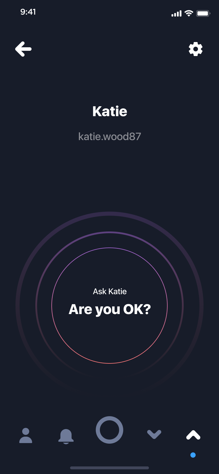 App screen: are you ok request
